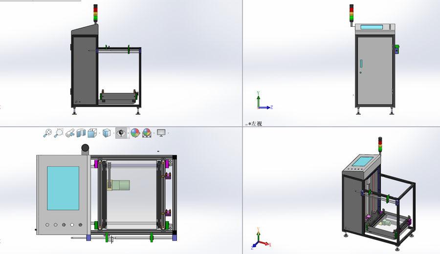 Asansör konveyörü royalty-free 3d model - Preview no. 3