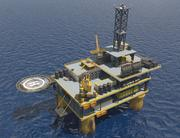 Strukturerad oljerigg (dag) 3d model