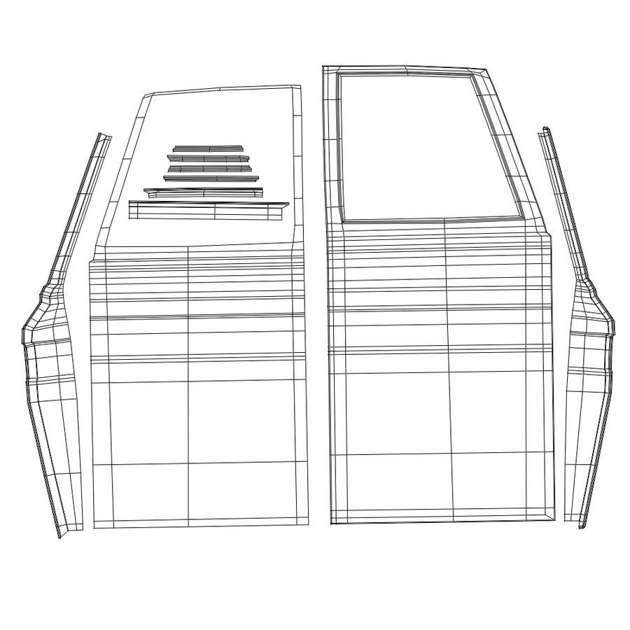 Çizgi Araba royalty-free 3d model - Preview no. 14
