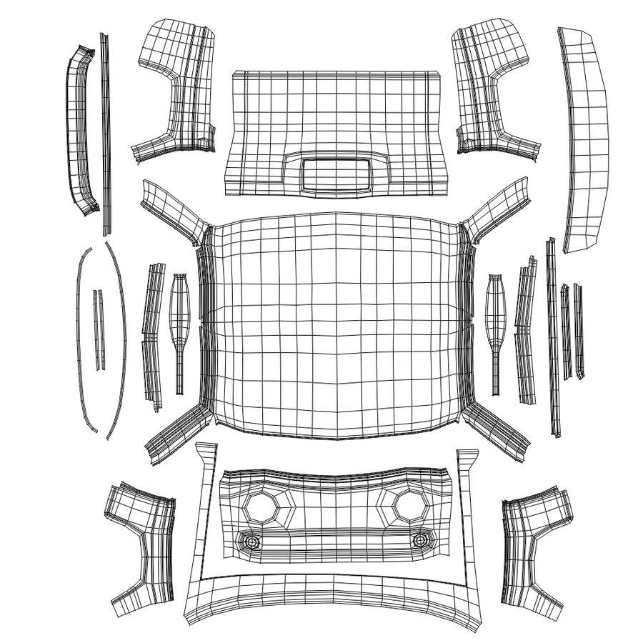 Çizgi Araba royalty-free 3d model - Preview no. 13