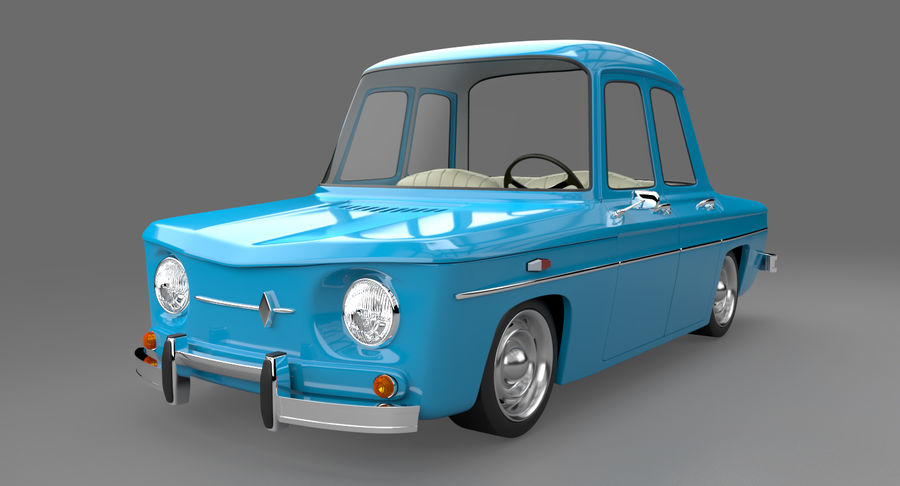 漫画車 royalty-free 3d model - Preview no. 2