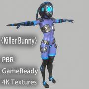 """Karakter """"Katil Tavşan"""" PBR Teçhizat Yok 3d model"""