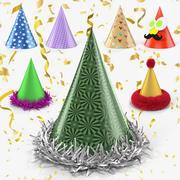 Collection de chapeaux de fête 3d model