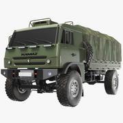 Camión del ejército KAMAZ modelo 3d