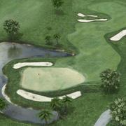 Campo de golfe 3d model