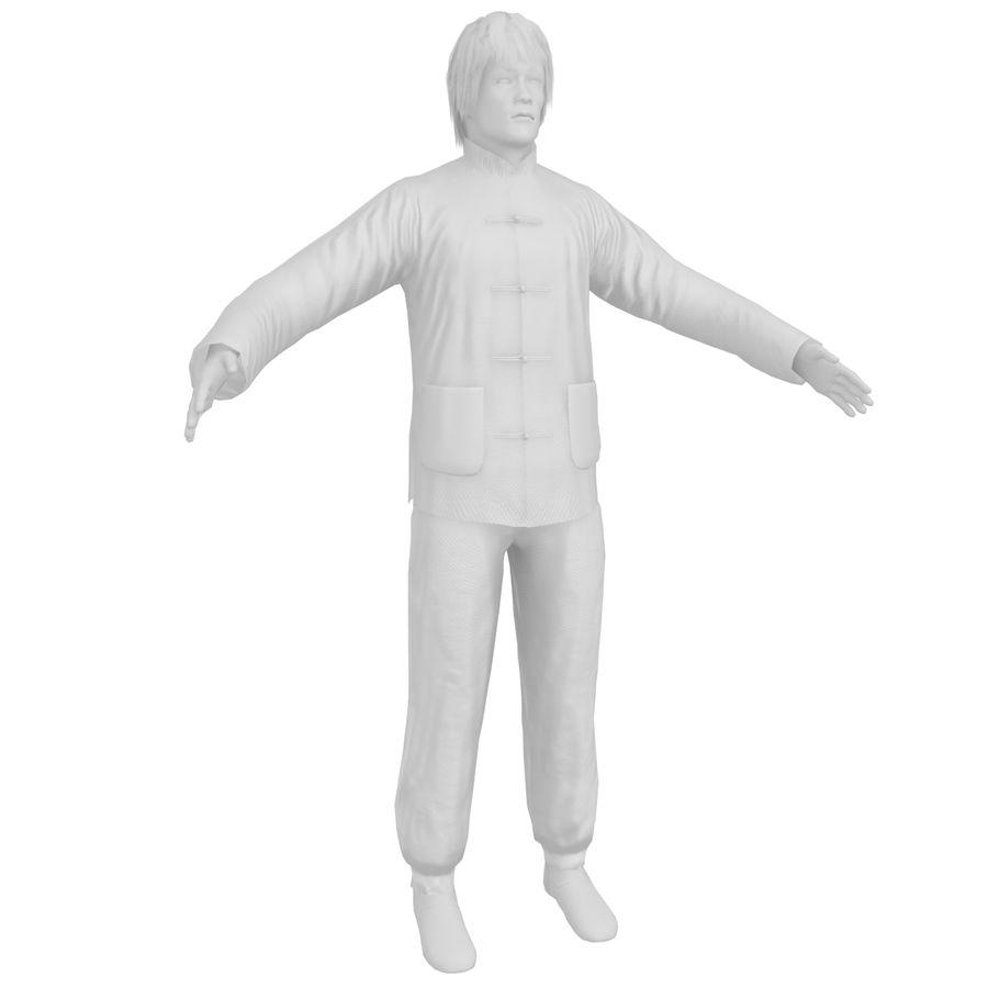 브루스 리 KF2 royalty-free 3d model - Preview no. 22