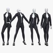 Female fitness sport suit 3 3d model