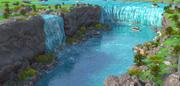 Niagara Falls, Border of Canada and U.S. 3d model