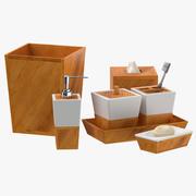 현대적인 욕실 장식 세트 3d model