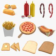 3D-коллекция продуктов питания 3d model