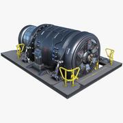 Generador de dispositivos de ciencia ficción PBR modelo 3d