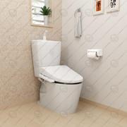 Japonya Sistemi Akıllı Tuvalet 3d model