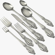 Formal Silverware Collection 3d model
