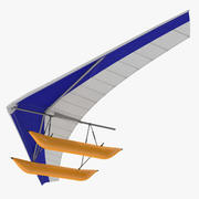 Hang Glider with Inflatable Pontoon 3D Model 3d model