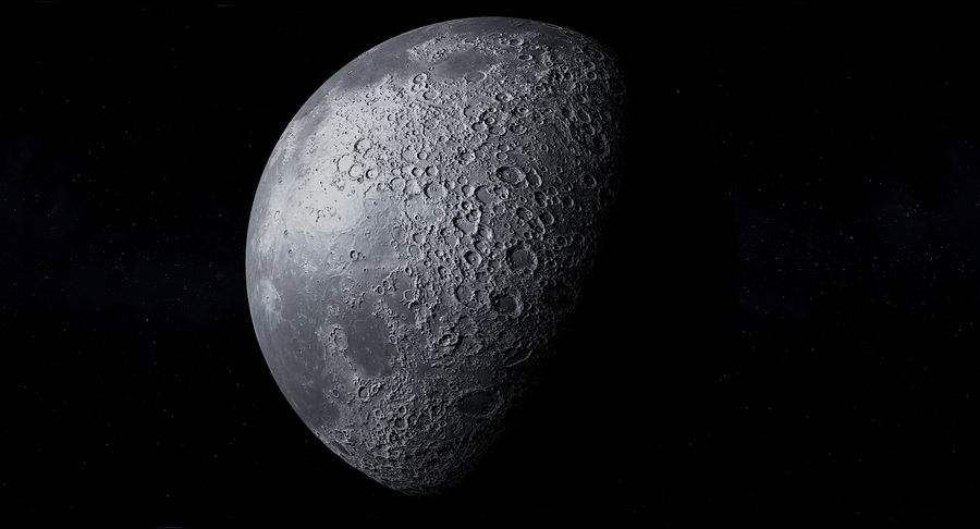 Earth and Moon Photorealistic 4K royalty-free 3d model - Preview no. 32