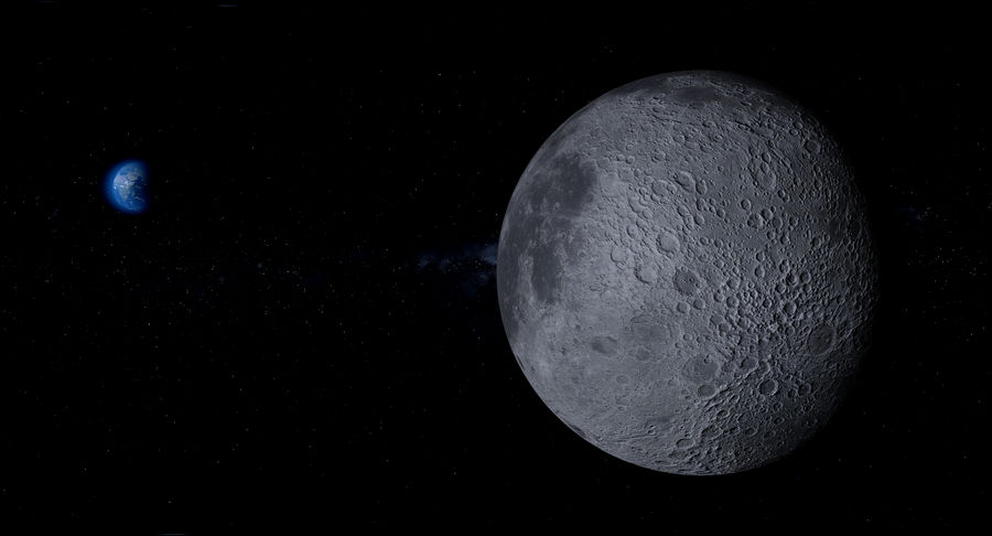 Earth and Moon Photorealistic 4K royalty-free 3d model - Preview no. 24