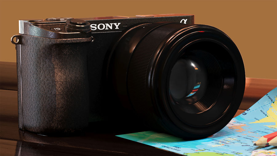 Sony Camera 6300 royalty-free 3d model - Preview no. 4