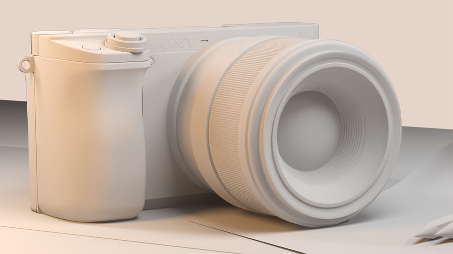 Sony Camera 6300 royalty-free 3d model - Preview no. 5