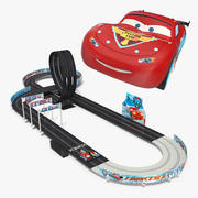 Toy Racing Car Track with Cars 3d model