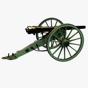 Civil War 12-pounder Whitworth Breechloading Rifle 3d model