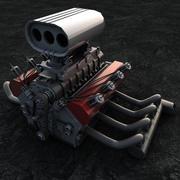 ホットロッドエンジン 3d model