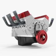 Model 3D silnika samochodowego V8 3d model