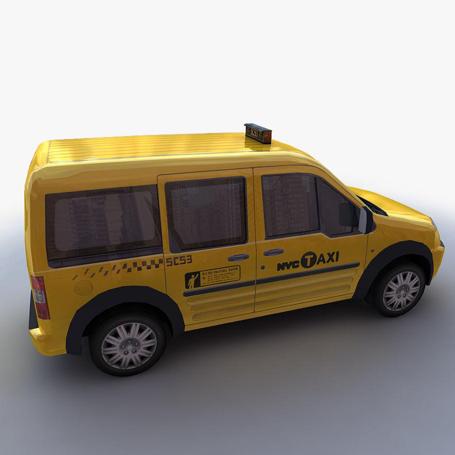 低ポリタクシー(一般) royalty-free 3d model - Preview no. 12