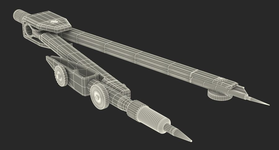 Brújula Círculo Dibujo Mano 3D Modelo royalty-free modelo 3d - Preview no. 24