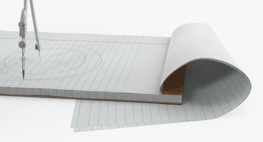 Brújula Círculo Dibujo Mano 3D Modelo royalty-free modelo 3d - Preview no. 10