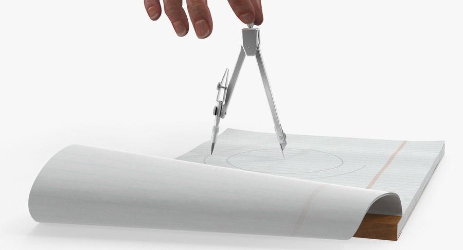 Brújula Círculo Dibujo Mano 3D Modelo royalty-free modelo 3d - Preview no. 9