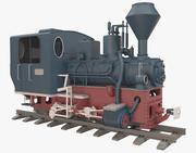 1963 Mav Steam Locomotive 399 3d model