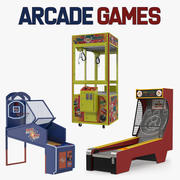Arcade Games Collection 3d model