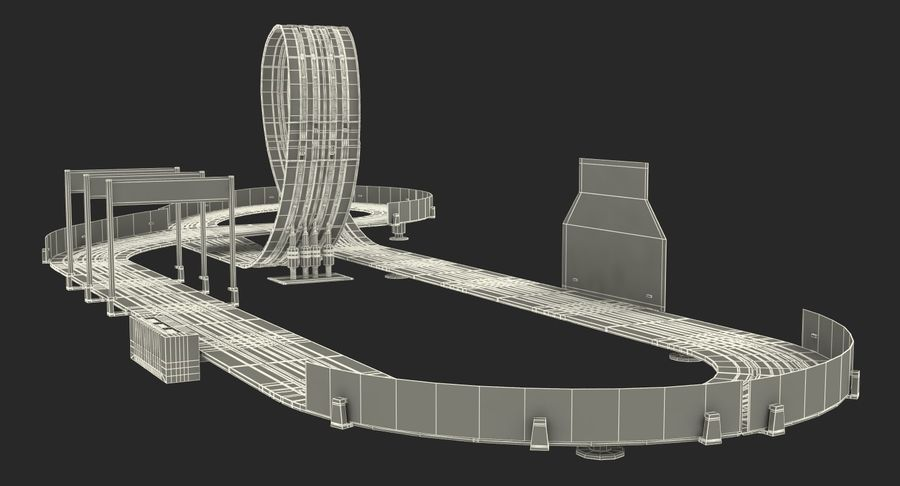 Toy Racing Car Track Generic royalty-free 3d model - Preview no. 25