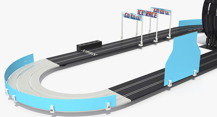 Toy Racing Car Track Generic royalty-free 3d model - Preview no. 16