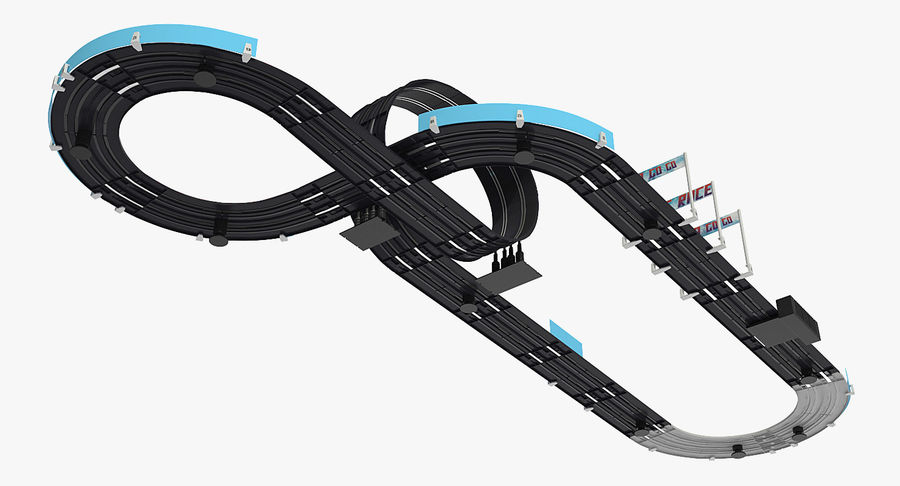 Toy Racing Car Track Generic royalty-free 3d model - Preview no. 7