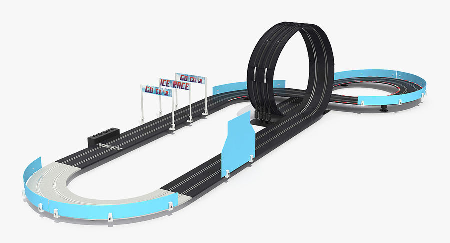 Toy Racing Car Track Generic royalty-free 3d model - Preview no. 4