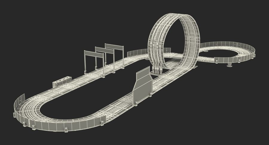 Toy Racing Car Track Generic royalty-free 3d model - Preview no. 24