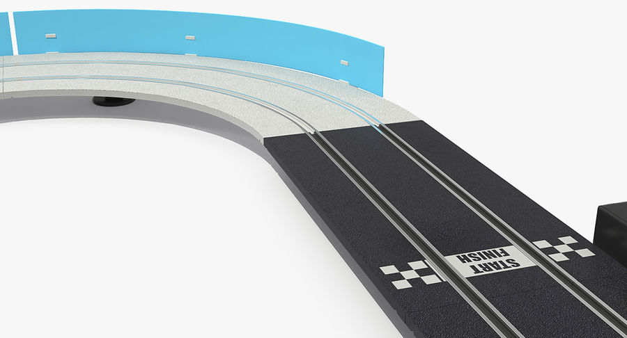 Toy Racing Car Track Generic royalty-free 3d model - Preview no. 13