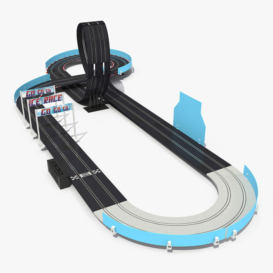 Toy Racing Car Track Generic royalty-free 3d model - Preview no. 1