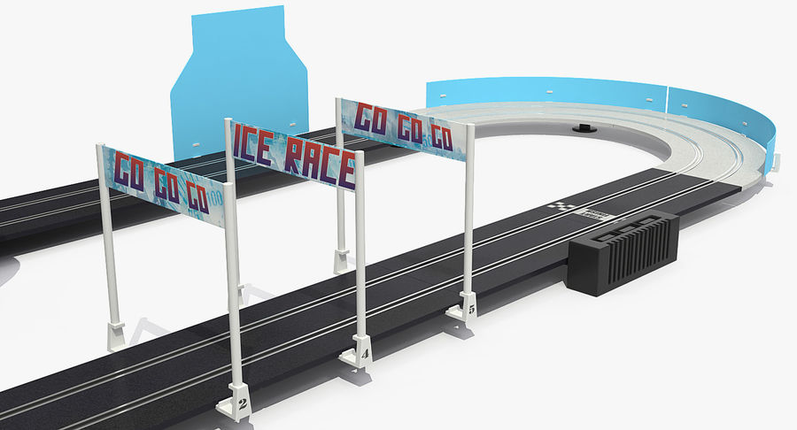 Toy Racing Car Track Generic royalty-free 3d model - Preview no. 12