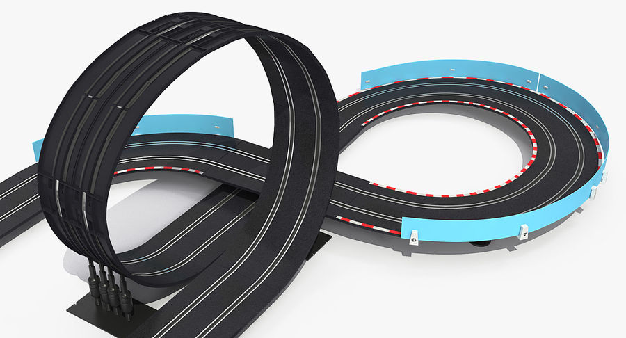 Toy Racing Car Track Generic royalty-free 3d model - Preview no. 9