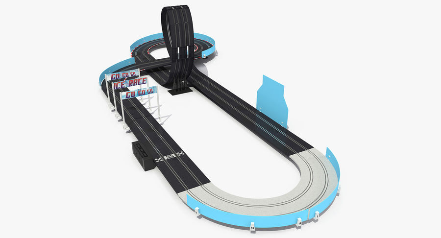 Toy Racing Car Track Generic royalty-free 3d model - Preview no. 2