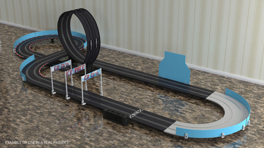 Toy Racing Car Track Generic royalty-free 3d model - Preview no. 3