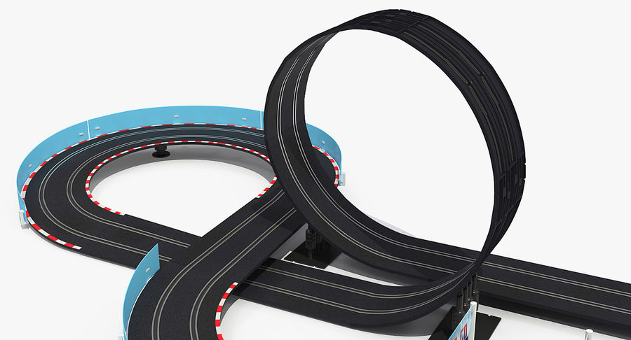 Toy Racing Car Track Generic royalty-free 3d model - Preview no. 10