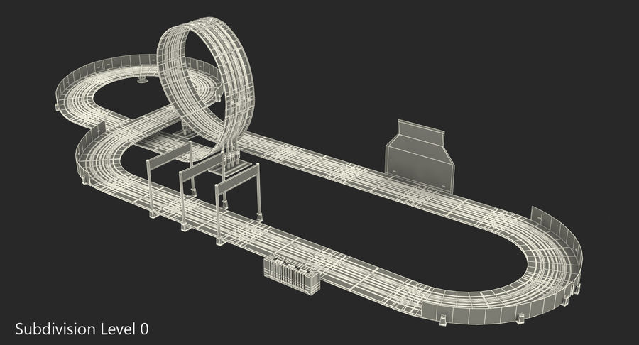 Toy Racing Car Track Generic royalty-free 3d model - Preview no. 17