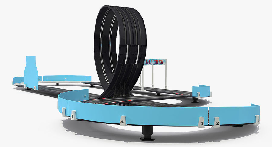 Toy Racing Car Track Generic royalty-free 3d model - Preview no. 5