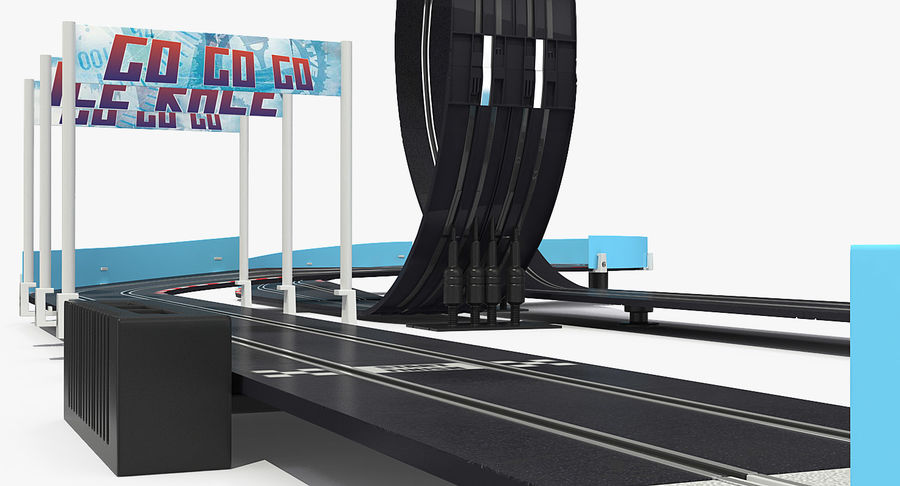Toy Racing Car Track Generic royalty-free 3d model - Preview no. 14