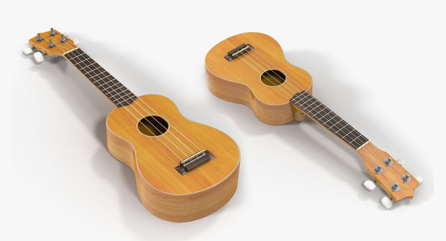 Guitars Collection 2 royalty-free 3d model - Preview no. 15