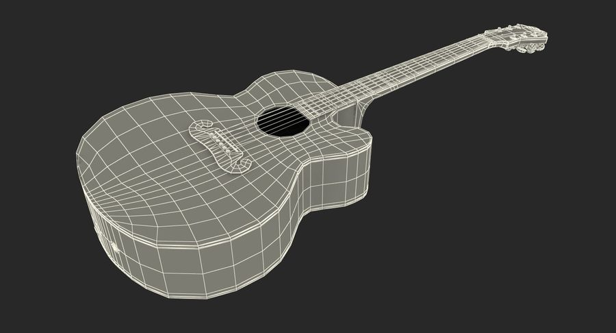 Guitars Collection 2 royalty-free 3d model - Preview no. 18