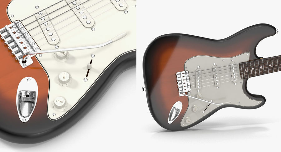 Guitars Collection 2 royalty-free 3d model - Preview no. 13
